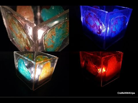 How to make a Resin heart tea light lamp DIY    Valentines day gift