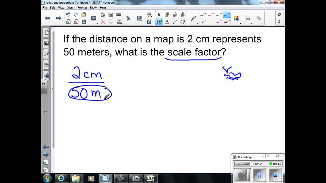 small resolution of Scale Drawings and Scale Factors 7th Grade Math - YouTube
