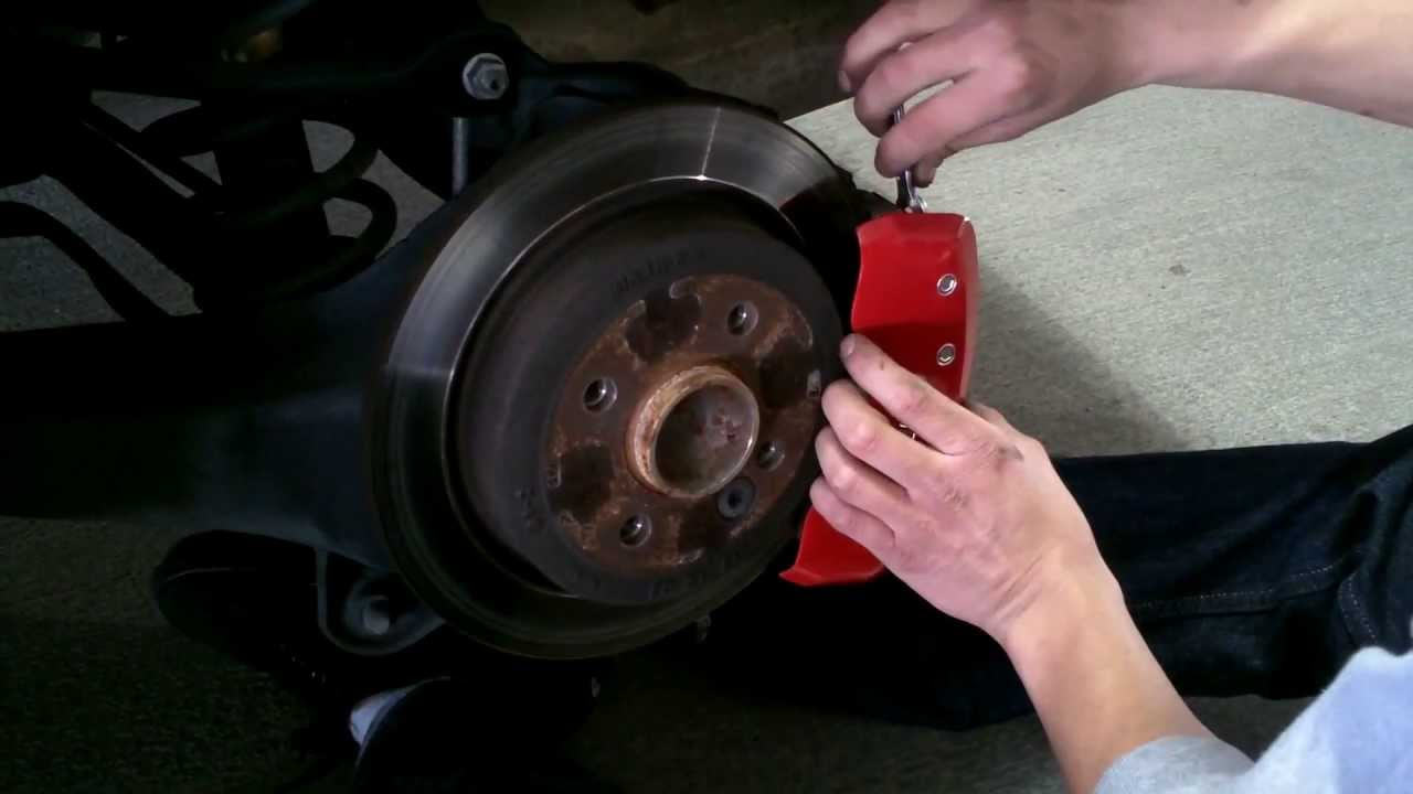 how to put on caliper covers