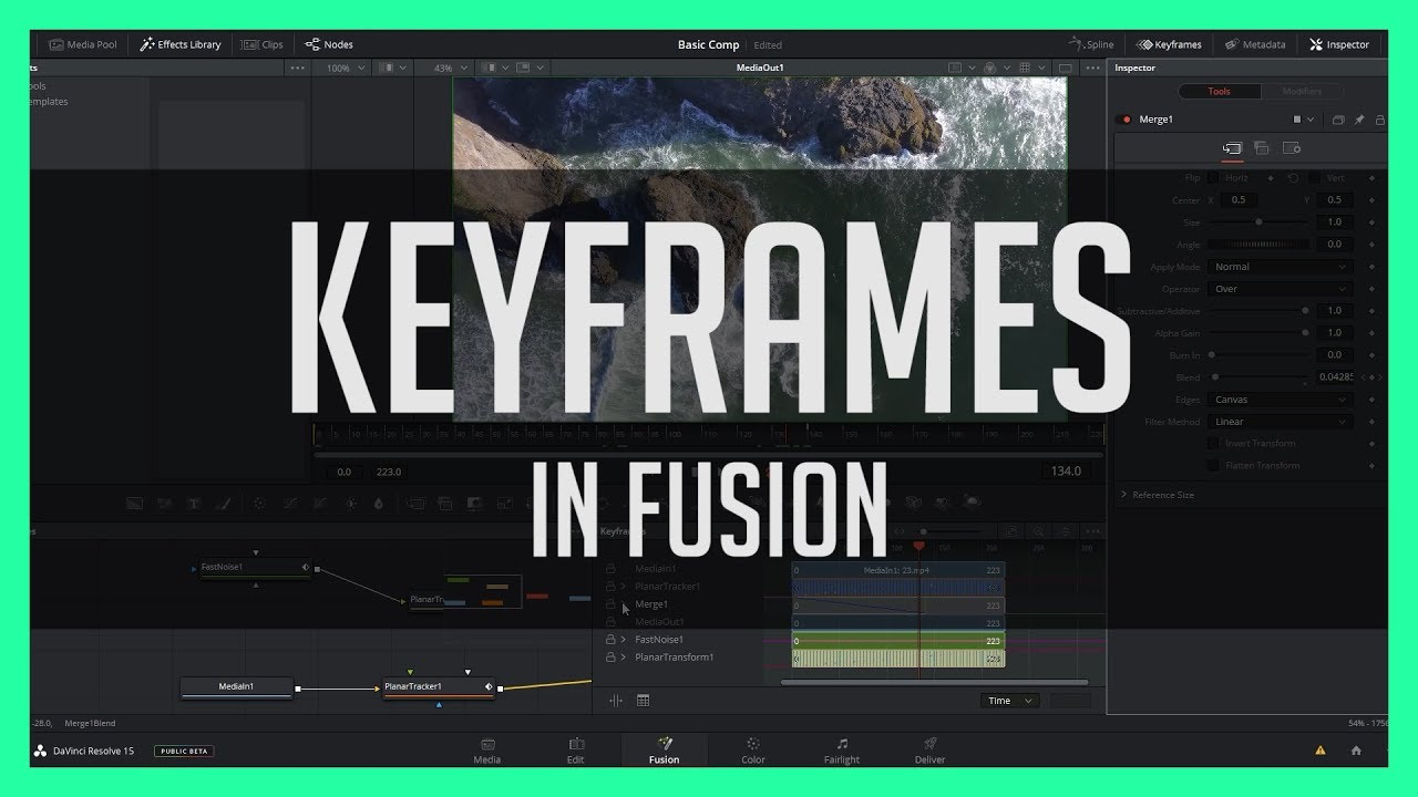 Getting started with Fusion in DaVinci Resolve 15 | Jonny