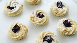 SHORTBREAD SWIRLS - how to bake shortbread cookies