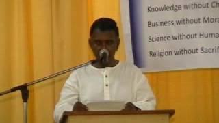 Speech by Chairman of Hindu Mahajana Sangam