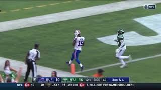 Josh Allen connects to John Brown for a 38 yards touchdown Jets vs Bills