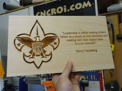 Motivational Wall Plaque: CNC Laser Engraving and Cutting Pine