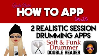 2 Realistic Session Drumming Apps with Soft & Funk Drummer on iOS - How To App on iOS! - EP 138 S3 screenshot 4