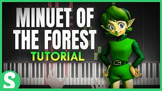 How to Play MINUET OF THE FOREST from LoZ Ocarina of Time | Smart Game Piano | Video Game Music