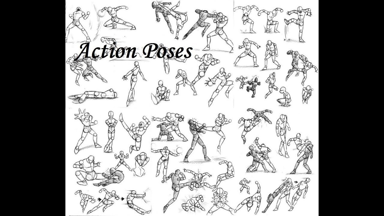 Tutorial Action Poses - YouTube