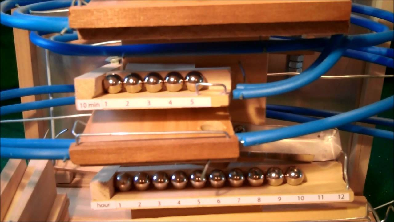 Rolling Ball Marble Machine Clock Youtube