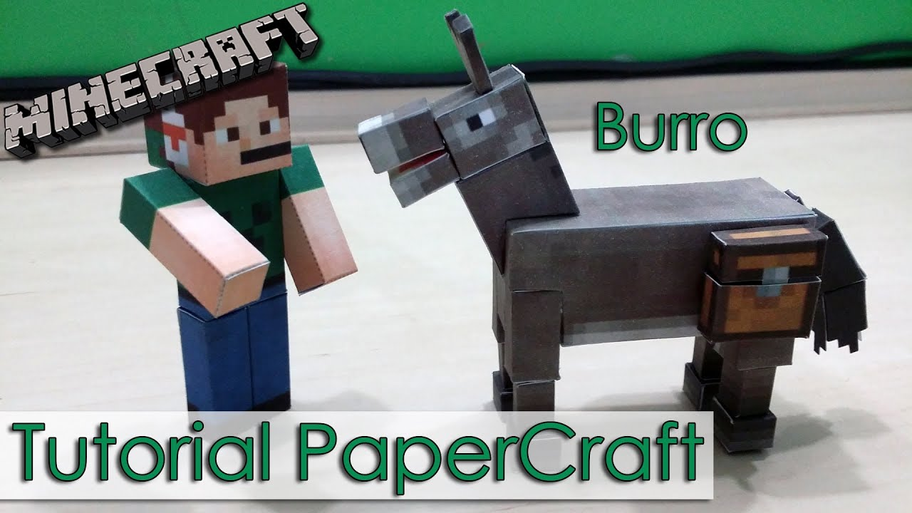 Papercraft Tutorial PaperCraft Minecraft - Burro / Donkey