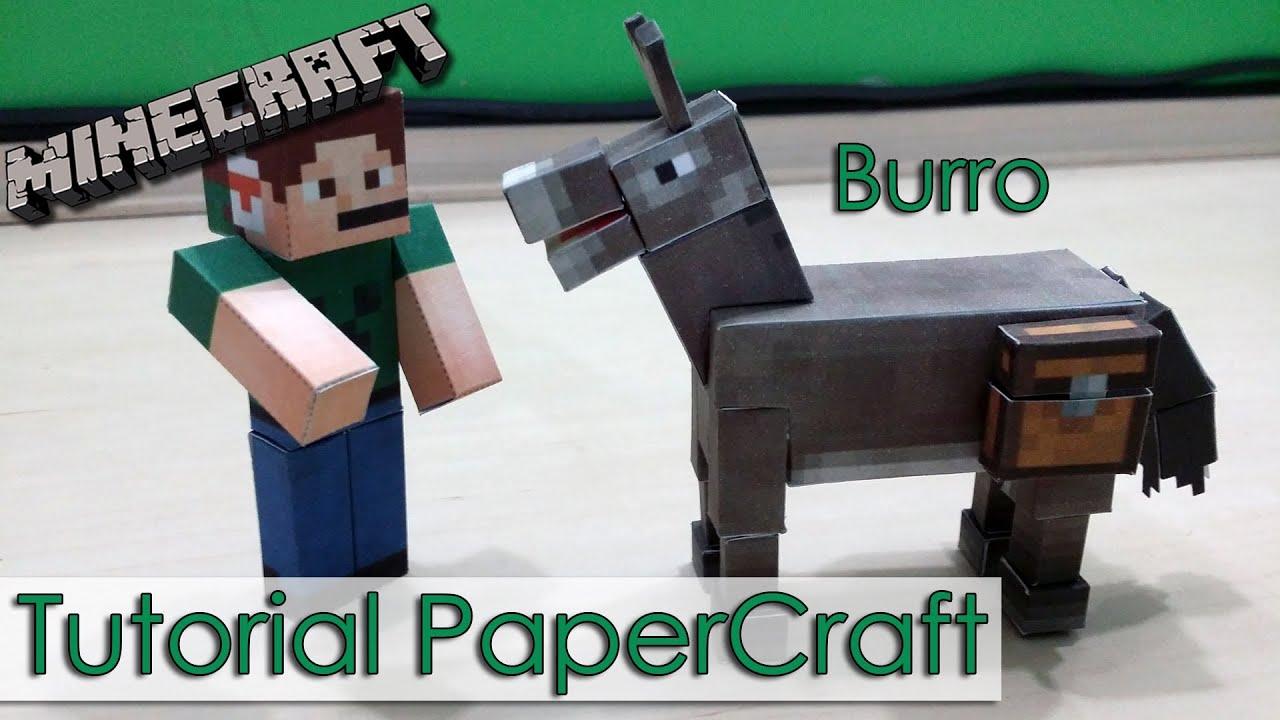 Papercraft Tutorial PaperCraft Minecraft - Burro / Donkey