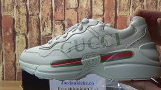 aa2ae797960 Gucci Rhyton Leather Sneakers - Youtube Downloader Free - M4ufree.com