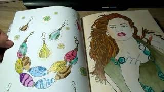 Listováníčko - Projektantka mody - Fashion Coloring book