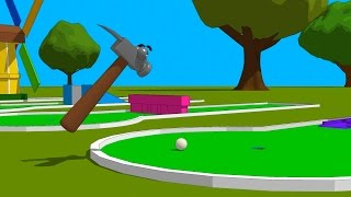 FUNNY TOOLS for Kids (ep.18) - Let´s Play Mini Golf - AApV