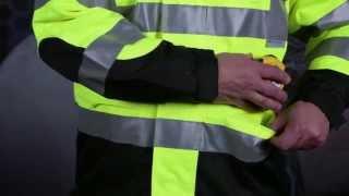 Radians RW32-3Z1Y Heavy Duty Rip Stop Waterproof Rain Jacket