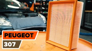 How to replace Air Filter PEUGEOT 307 (3A/C) Tutorial