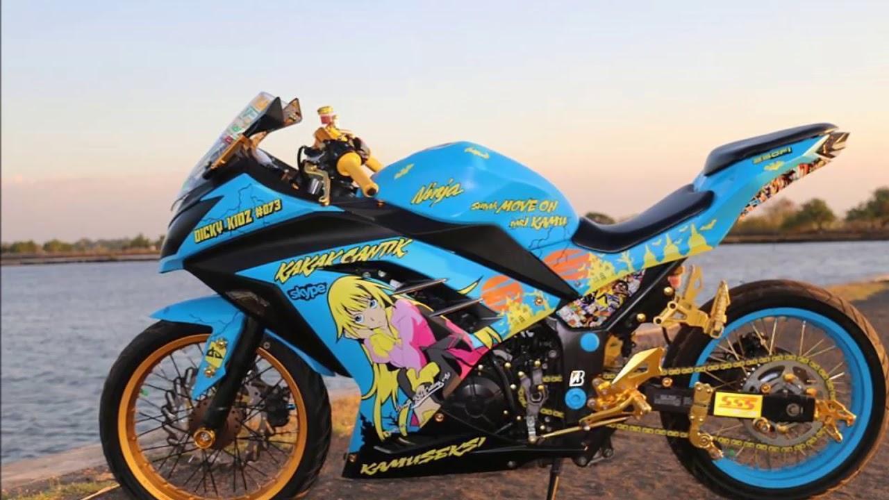 Modifikasi Kawasaki Ninja 250 Velg Jari Jari Part 1