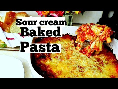 Sour Cream Cheesy Baked Ziti | Quick & Easy | Dinner Recipes