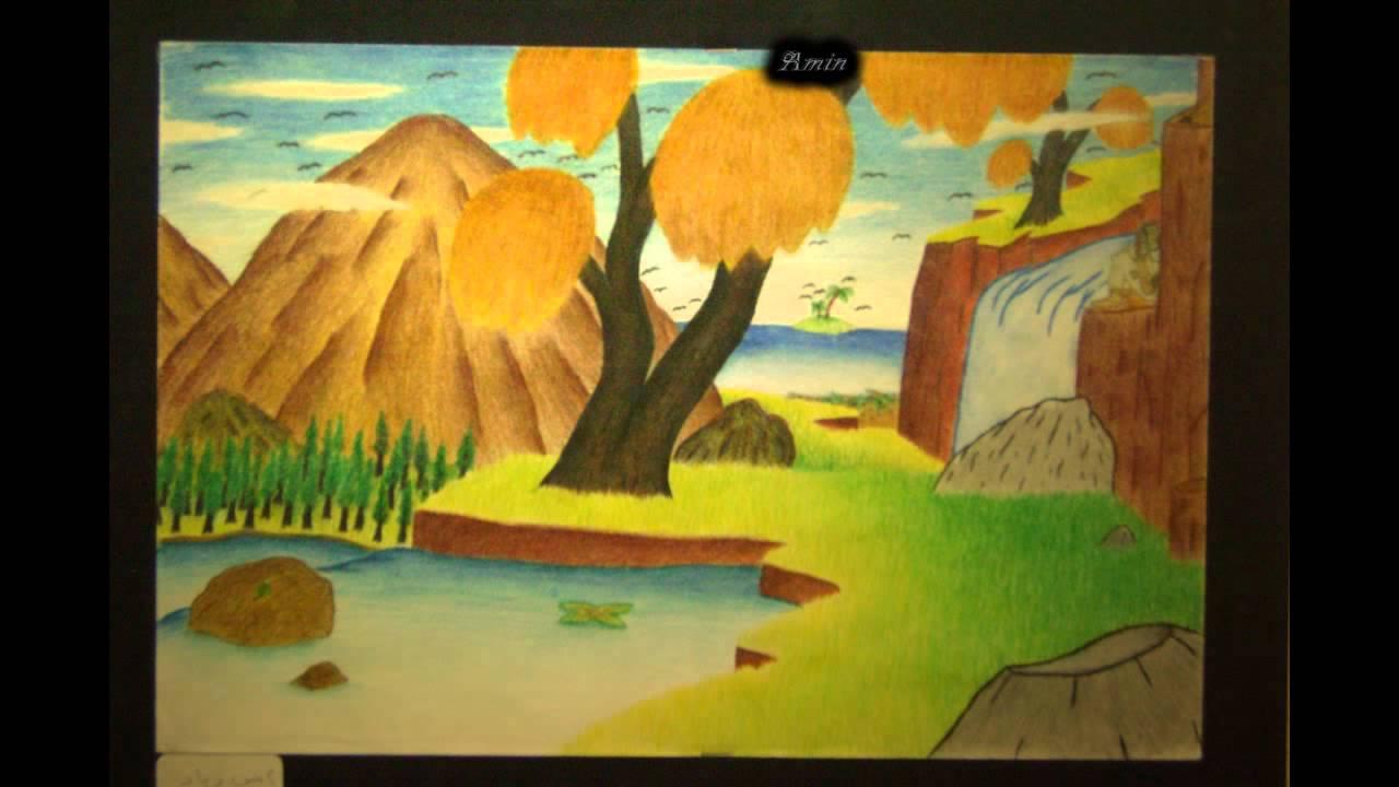 رسم بالألوان الخشبية Mpg Youtube