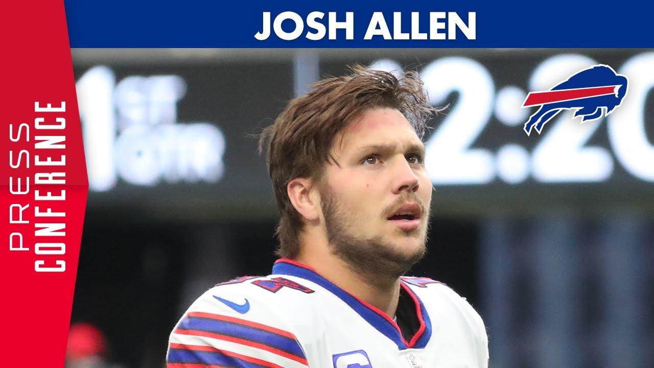 Josh Allen Reacts To Win Over Raiders Buffalo Bills Youtube