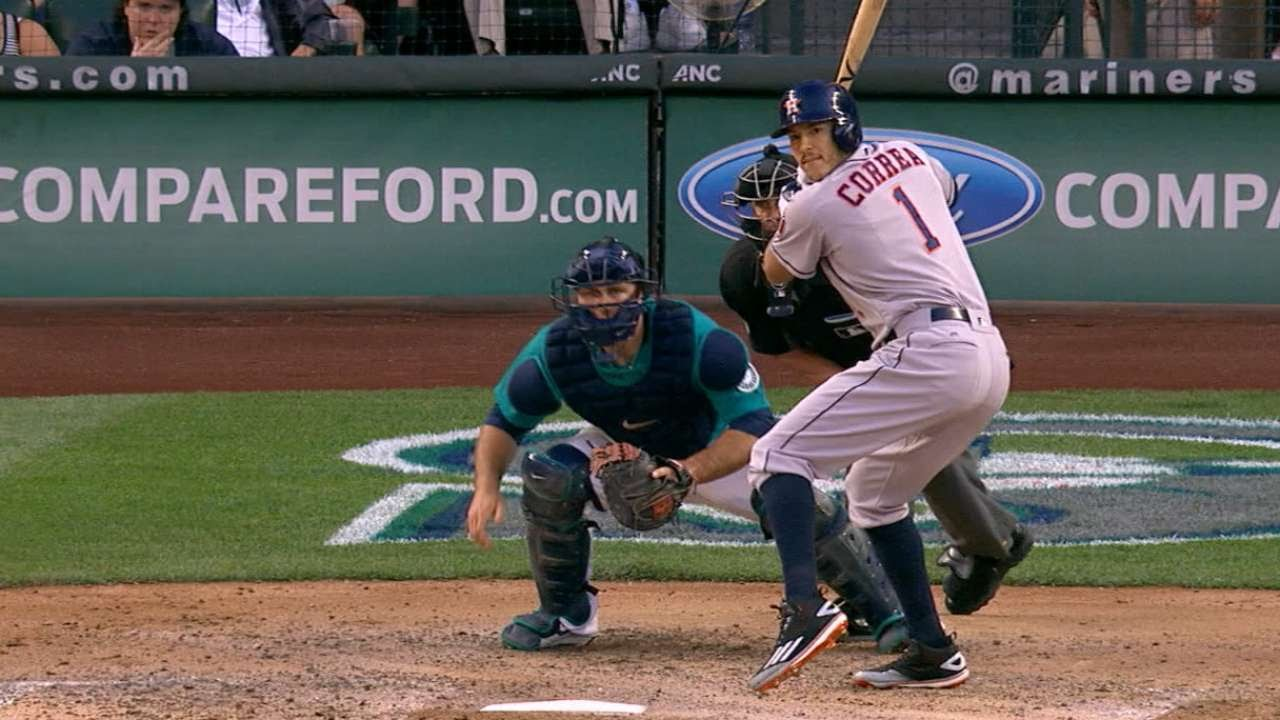 7 15 16 Springer Correa lead Astros past Meriners