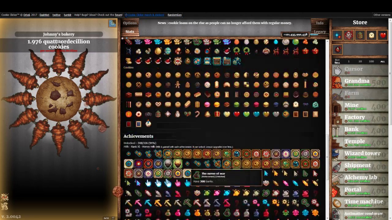 Cookie Clicker: Forcing the Hand of Fate