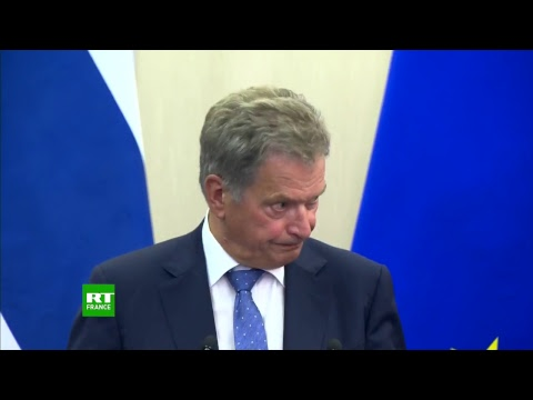 Conférence de presse conjointe de Vladimir Poutine et du président finlandais Sauli Niinistö