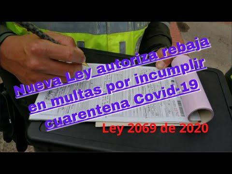 Nueva Ley autoriza rebaja en multas por incumplir cuarentena Covid-19