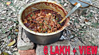 Jungle me mangal | jungle mutton cooking show jungle cooking india | amazing cooking on bricks stove