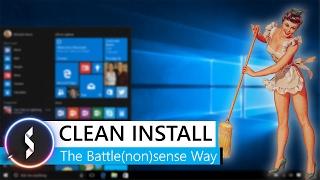 Clean Install The Battle(non)sense Way