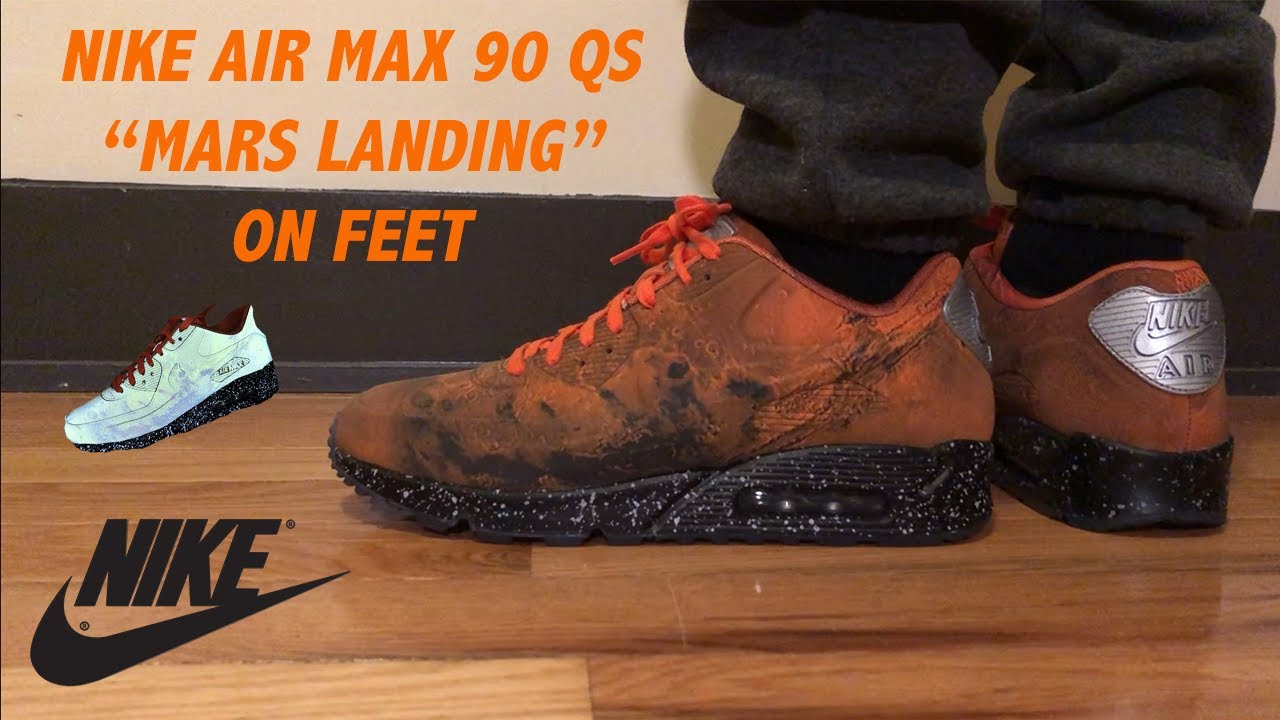 937ebc17b51 Nike Air Max 90 QS Mars Landing On Feet Review - YouTube
