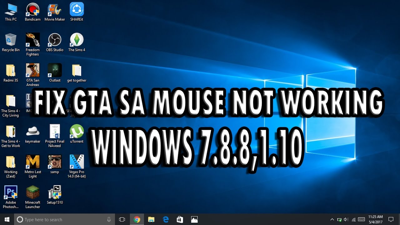 how to fix pc mouse not working