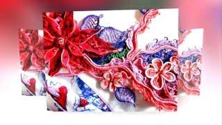 Irish Crochet Asia Verten . Ирландское кружево комбинированное с тканью.