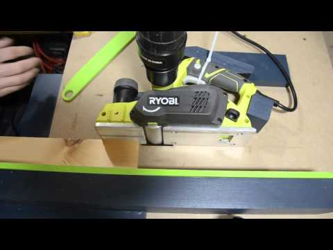 DIY Planer Table In Action