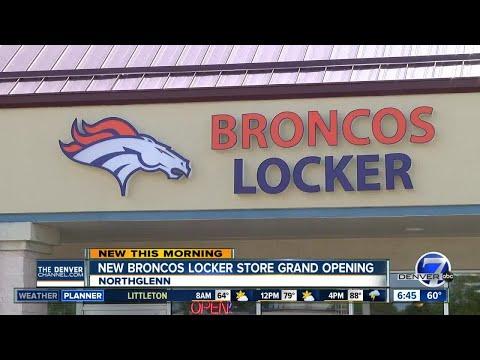 Broncos Locker Store Grand Opening In Northglenn Youtube
