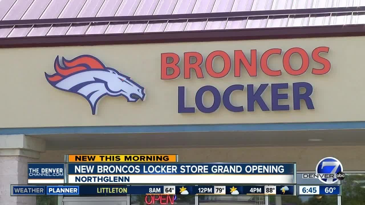check out 21d72 5f442 Broncos Locker Store grand opening in Northglenn