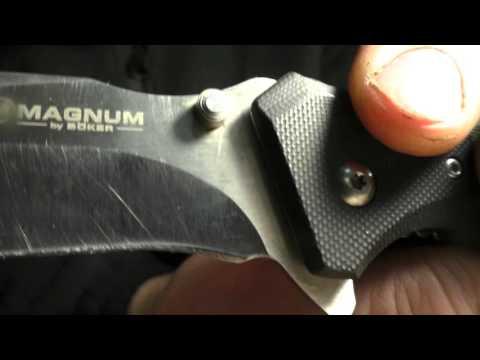 Опыт № 162 нож складной Magnum Bocker сталь 440С