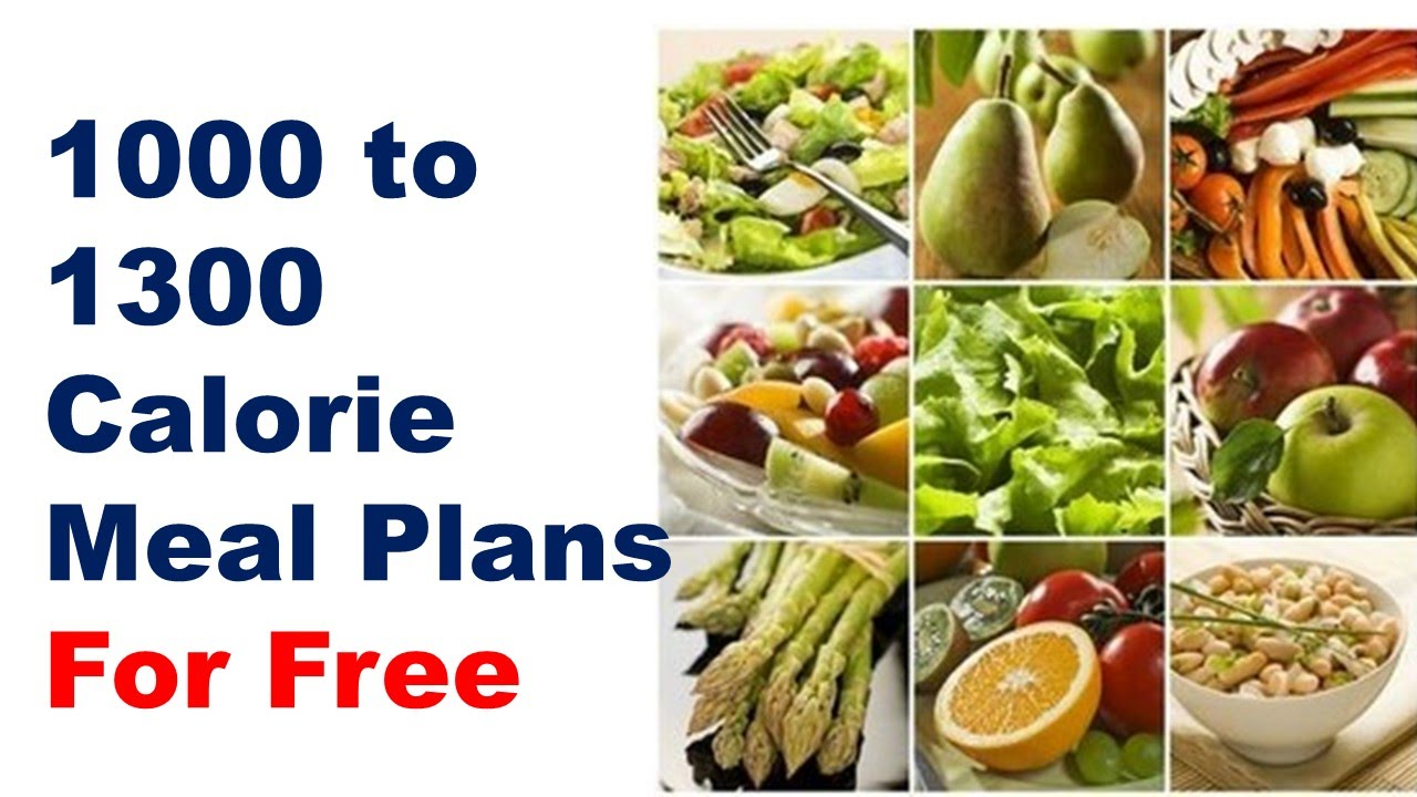 Does 1000 calorie diet plan work for weight loss, 1000 calorie meal plan,  1300 calorie diet - YouTube