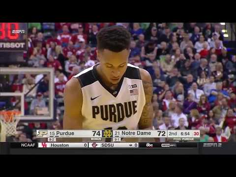 Vincent Edwards Purdue Highlights vs Notre Dame (12.17.16) 20 PTS 10 REB
