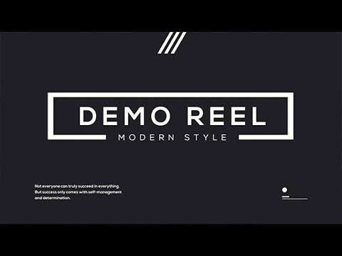 demo reel after effects template free