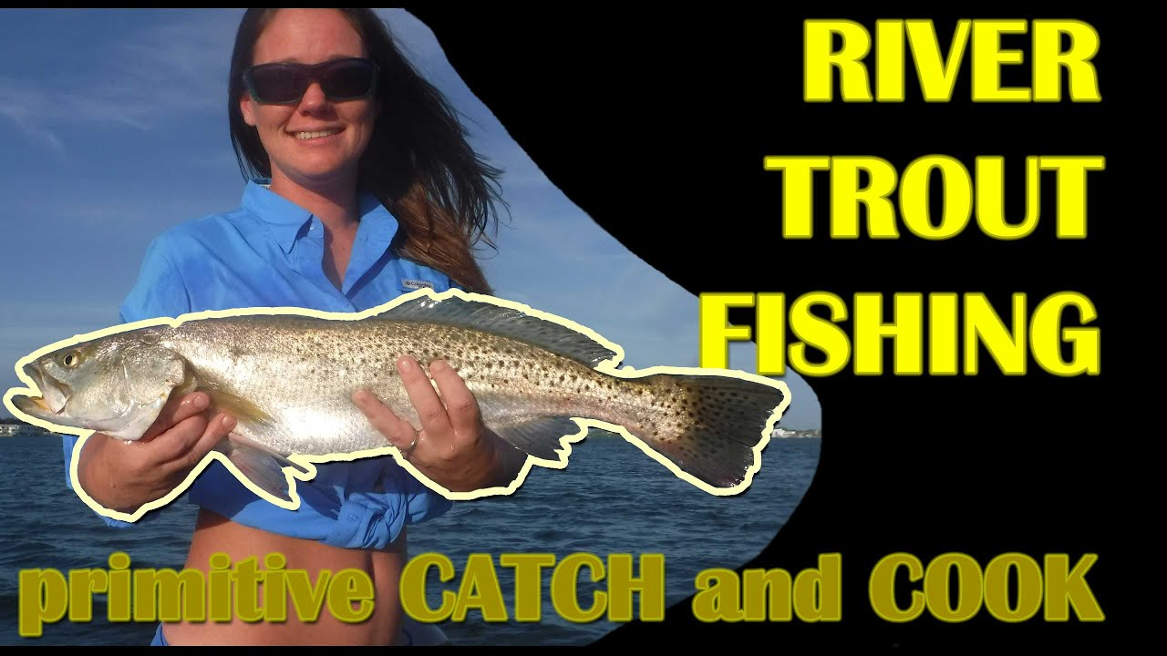 Download TROUT FISHING on RIVER - Catch and Cook - Primitive Catch and Cook