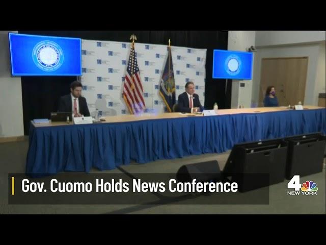 NY Gov. Cuomo Holds News Conference
