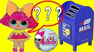 LOL Surprise Baby Dolls Glitter Queen and MC Swag Mailbox Fun  with Boss Baby and Hatchimals