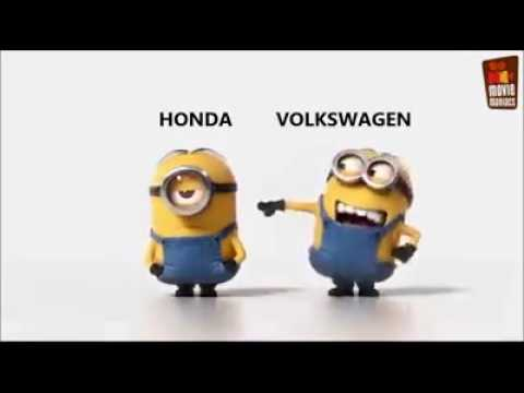 Minions Vw Golf Vs Honda Civic Youtube