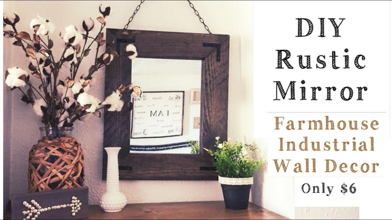 Diy Rustic Wood Mirror Easy Project 6