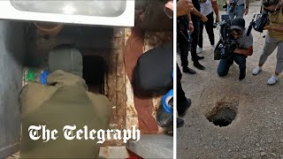 video: Six Palestinian prisoners tunnel out of Israeli high-security jail known as 'the safe'