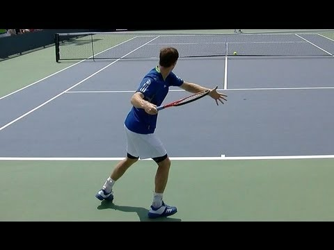 Andy Murray Forehand and Backhand practice - Murray Forehand in Slow Motion