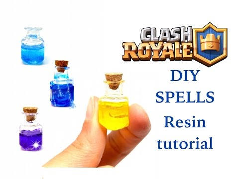 DIY Clash Royale Heal Spell and other ones - Resin tutorial