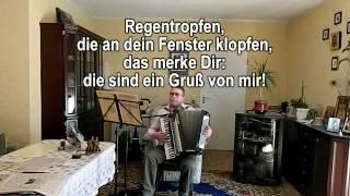 REGENTROPFEN DIE AN DEIN FENSTER KLOPFEN ohne Vokal mit Text zum Mitsingen