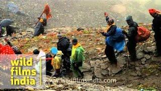 Devotees heading towards Nauti Village - Nanda Devi Raj Jat Yatra