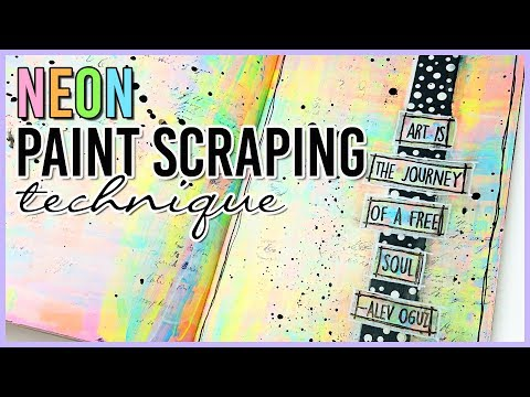Art Journal Paint Scraping Technique  for Backgrounds |  Mixed Media Art Journal With Me